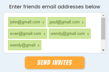 Email invite example